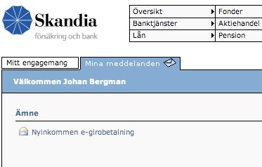 Steg 2 hos SkandiaBanken