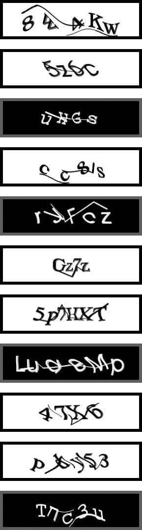 CAPTCHAs som används på Yahoos registreringssida