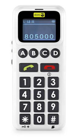 HandleEasy är en mobiltelefon som har en skärm, fyra snabbvalsknappar samt ett klassiskt nummertangenter
