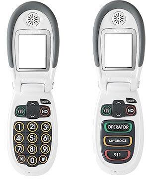 Jitterbugs två olika mobiltelefoner