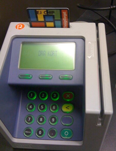 Exempel på omdesignad kortterminal