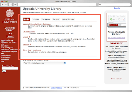 Making resource finding easier at Uppsala University Library